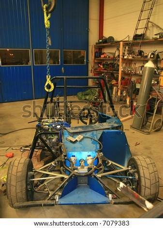 Short car under construction