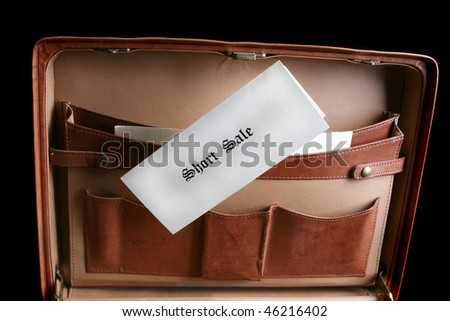 Short sale documents in a briefcase