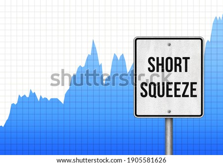 Short Squeeze stock chart illustration Stockfoto ©