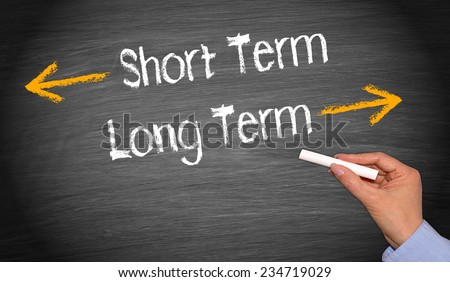 Short Term and Long Term - Business Concept #234719029