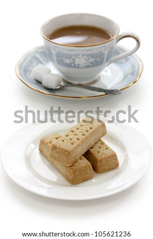 shortbread and a cup of milk tea