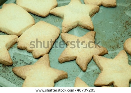 Shortbread is a type of biscuit (cookie) which is traditionally made from one part white sugar, two parts butter, and three parts oatmeal flour.