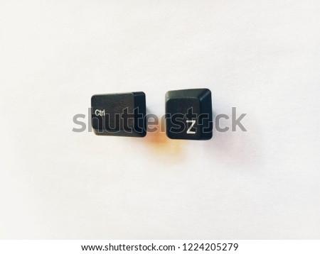 shortcut keys ctrl z keyboard button undo illustration #1224205279