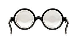 shortsighted glasses, isolated on white background