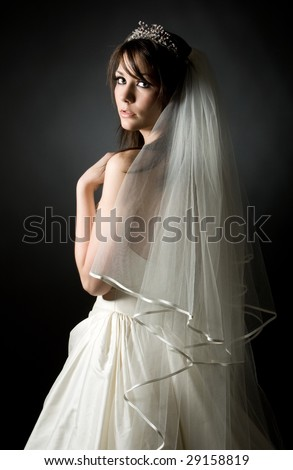 Shot of a Beautiful Teenage Bride