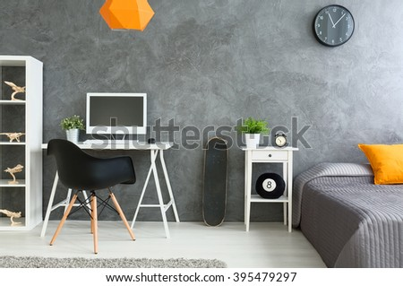 Shot of a bedroom in a modern apartment