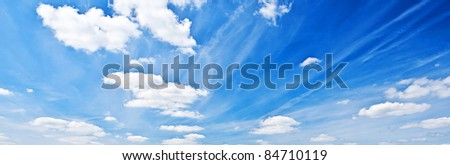 Shot of a Blue Sky with Clouds