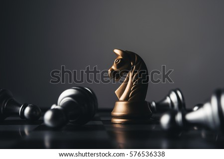 Shot of a chess board white house moving. Business leader concept.