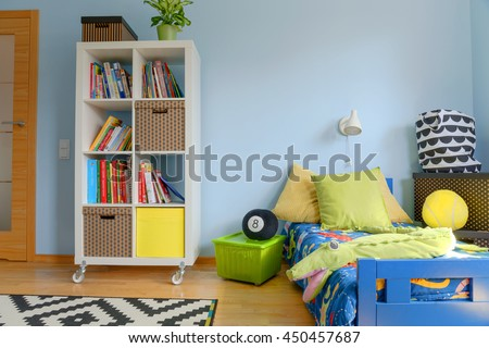 Shot of a colorful modern children's room #450457687