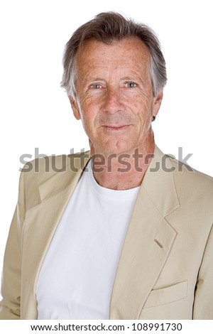 Shot of a Handsome Senior Male against White