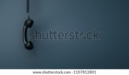 Shot of a landline telephone receiver with copy space for individual text #1107812801
