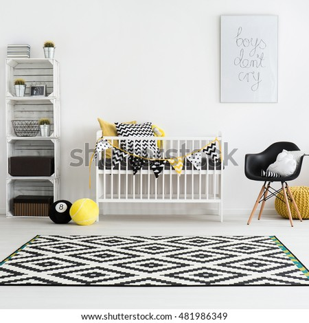 Shot of a modern baby room #481986349