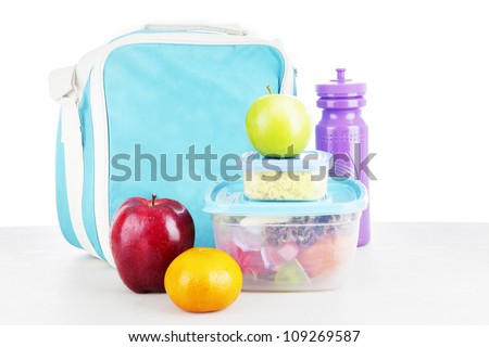 Shot of a packed lunch for child shot in studio