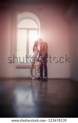 Shot of a passionate loving couple