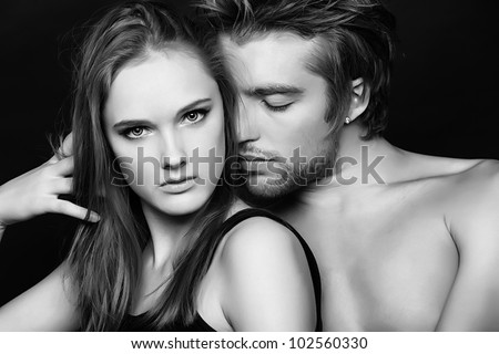Shot of a passionate young people in love.