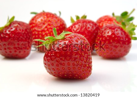 Shot of a pile of fresh strawberries