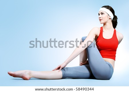 Shot of a sporty young woman. Active lifestyle, wellness, yoga.
