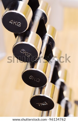 Shot of a weight training equipment
