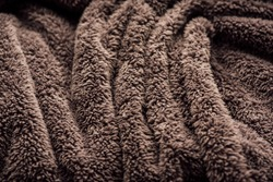 shot of abstract fur background texture. Fluffy gray fabric. abstract fabric grey colour texture