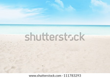 Shot of beach and tropical sea. shot during summer day