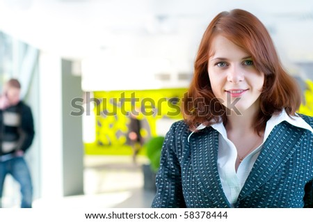 Shot of beautiful business woman in interior