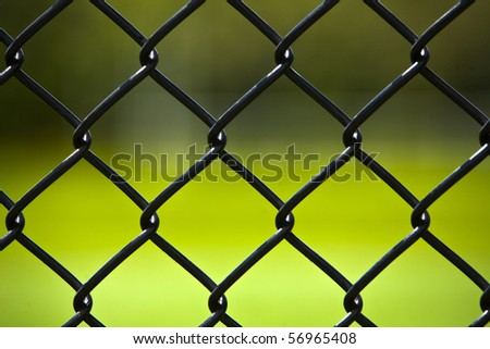 Shot of chain link fencing at the ball park