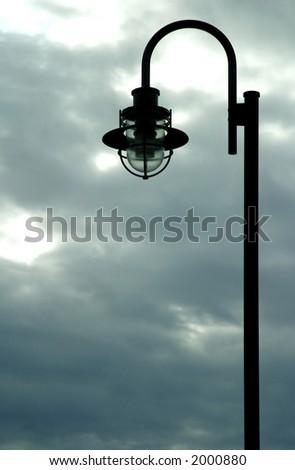shot of light post