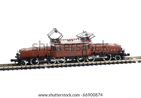 Shot of Model railroading isolated on white background