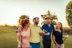 Shot of people on a golf course