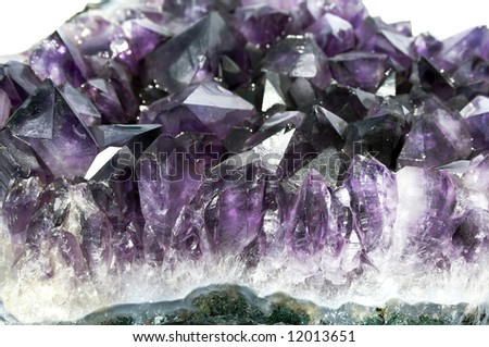 Shot of purple quartz stone