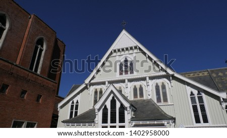 shot of religious chapel or funeral home for funeral service
