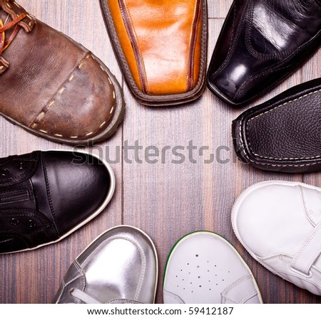 Shot of several types of shoes