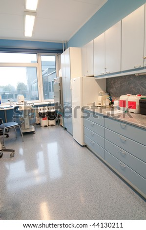 Shot of the room for medical procedures
