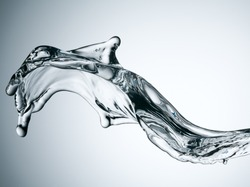 shot of water splashing