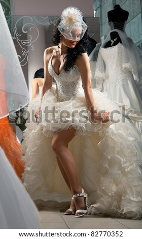 Shot of woman in Bridal Shop