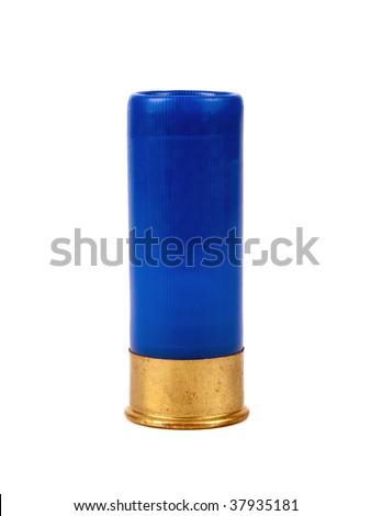 Shotgun cartriges 12 caliber isolated on white