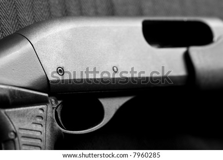 Shotgun receiver with focus on trigger