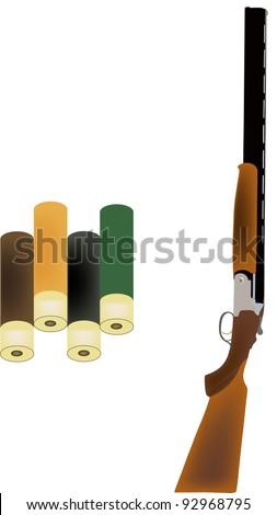 shotgun with shotgun cartridges