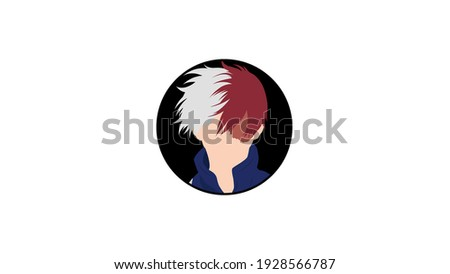 Shoto Todoroki: Anime Character With White and Red Hair 4k Illustration in manga and anime series My Hero Academia Foto stock ©