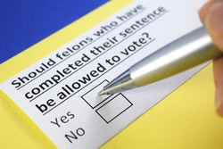 Should felons who have completed their sentences be allowed to vote? Yes