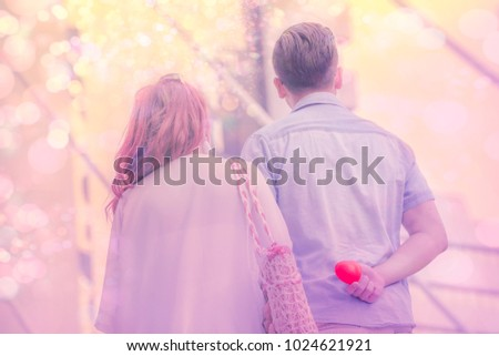 Should the best way how love we are,bekeh background, display red love heart, content to surprise wedding,valentine