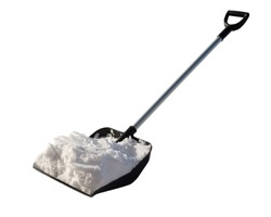 Shovel for cleaning of snow with the snow.