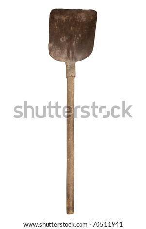 Shovel Isolated on a White Background.