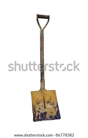 Shovel Isolated on a White Background.