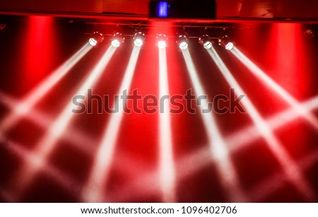 show stage red spotlights background decoration on scene  #1096402706
