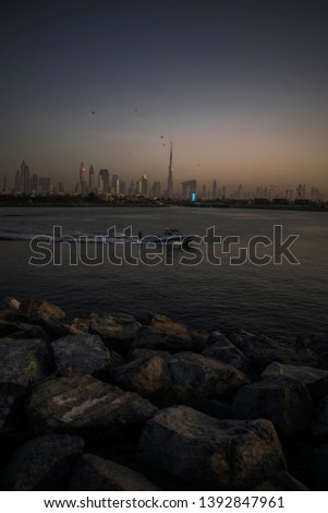 Showcase of the beautiful skyline of Dubai in the golden hour. Perfectly timed pictures.