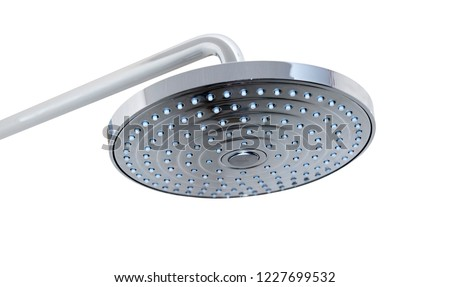 Shower head isolated on white background. Bathroom shower. #1227699532