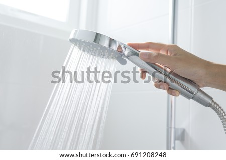 shower head with hand
