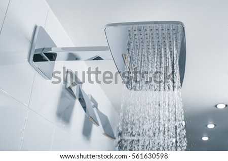 shower in the bathroom close up