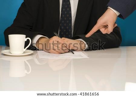 Showing signature